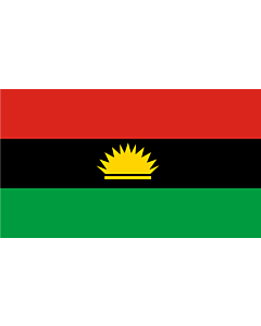 Indoor-Flag: Biafra 90x150cm