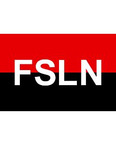 Drapeau: FSLN | Fuimos siempre ladrones nacionales |  drapeau paysage | 2.16m² | 120x180cm