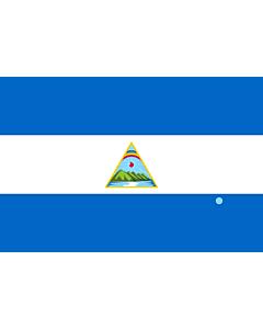 Drapeau: Nicaragua  1924 | Nicaragua as in Nouveau Petite Larousse Illustré | Nicaragua representado en Nouveau Petite Larousse Illustré |  drapeau paysage | 1.35m² | 90x150cm
