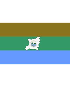 Drapeau: Region Autonoma del Atlantico Norte |  drapeau paysage | 0.06m² | 20x30cm