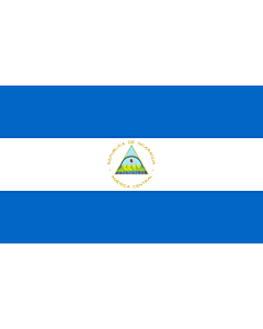 Bandera de Interior para protocolo: Nicaragua 90x150cm