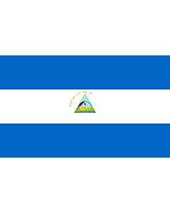 Drapeau: Nicaragua |  drapeau paysage | 2.16m² | 120x180cm
