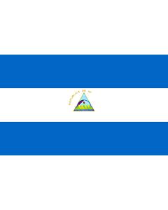 Drapeau: Nicaragua |  drapeau paysage | 2.4m² | 120x200cm