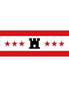 Flag: Drenthe |  landscape flag | 6.7m² | 72sqft | 200x335cm | 6x11ft