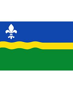 Flag: Flevoland |  landscape flag | 0.24m² | 2.5sqft | 40x60cm | 1.3x2foot