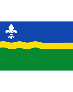 Flag: Flevoland |  landscape flag | 6.7m² | 72sqft | 200x335cm | 6x11ft