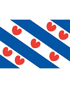 Raum-Fahne / Raum-Flagge: Friesland 90x150cm
