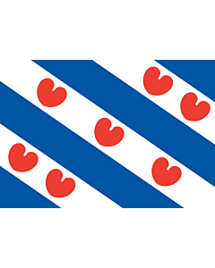 Table-Flag / Desk-Flag: Friesland 15x25cm