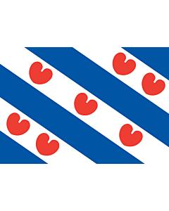 Tisch-Fahne / Tisch-Flagge: Friesland 15x25cm