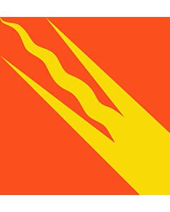 Flagge: XXS Østfold  |  Fahne 0.24m² | 50x50cm