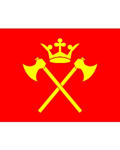 Flagge: XXS Hordaland  |  Querformat Fahne | 0.24m² | 40x55cm