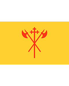 Bandera: Sør-Trøndelag |  bandera paisaje | 0.24m² | 40x60cm
