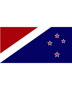 Bandera: John Traft s New Zealand |  bandera paisaje | 1.35m² | 80x160cm
