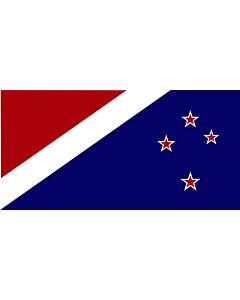 Bandera: John Traft s New Zealand |  bandera paisaje | 2.16m² | 100x200cm