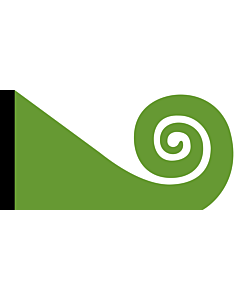 Drapeau: Koru | This image shows the popular Koru Flag |  drapeau paysage | 2.16m² | 110x200cm