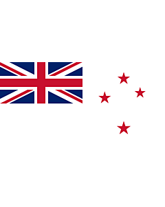Drapeau: Naval Ensign of New Zealand |  drapeau paysage | 1.35m² | 80x160cm