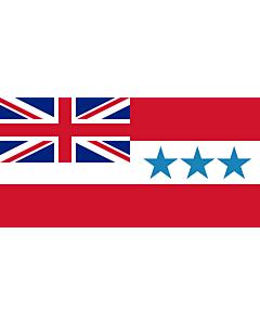 Bandera: Rarotonga 1888-1893 | Rarotonga  now Cook Islands  from 1858 to 1893 | Het Koninkrijk Rarotonga tussen 1858 en 1893 |  bandera paisaje | 2.16m² | 100x200cm