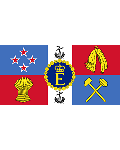 Drapeau: Royal Standard of New Zealand | Queen Elizabeth II s personal flag for New Zealand |  drapeau paysage | 2.16m² | 100x200cm