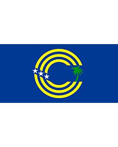 Bandera: Tokelau  local |  bandera paisaje | 2.16m² | 100x200cm