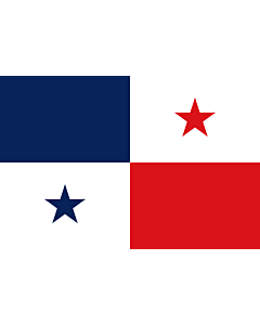 Flag: Original design of the Panamanian flag  not current |  landscape flag | 1.35m² | 14.5sqft | 90x150cm | 3x5ft