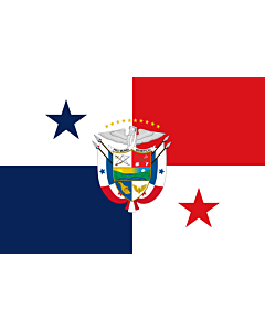 Flag: Presidential Flag of Panama |  landscape flag | 2.16m² | 23sqft | 120x180cm | 4x6ft