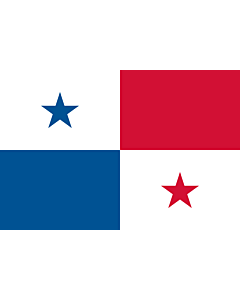 Flag: Panama |  landscape flag | 0.375m² | 4sqft | 50x75cm | 1.5x2.5ft