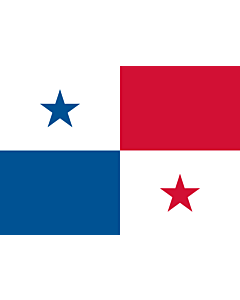 Flag: Panama |  landscape flag | 0.7m² | 7.5sqft | 70x100cm | 2x3ft