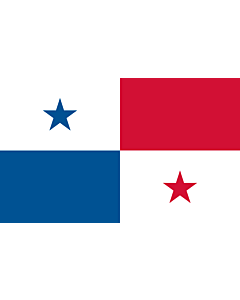 Flag: Panama |  landscape flag | 1.35m² | 14.5sqft | 90x150cm | 3x5ft