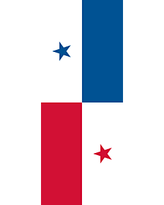 Flag: Panama |  portrait flag | 3.5m² | 38sqft | 300x120cm | 10x4ft