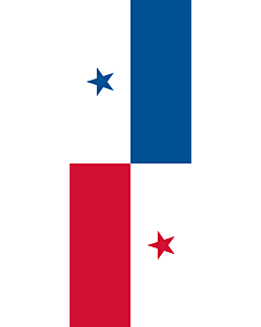 Flag: Panama |  portrait flag | 6m² | 64sqft | 400x150cm | 13x5ft