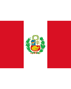 Flag: Peru |  landscape flag | 0.7m² | 7.5sqft | 70x100cm | 2x3ft