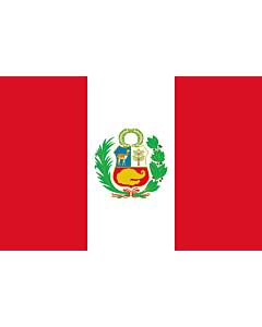 Flag: Peru |  landscape flag | 1.35m² | 14.5sqft | 90x150cm | 3x5ft