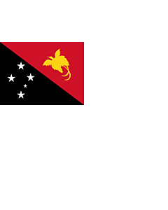 Flag: Naval Ensign of Papua New Guinea |  landscape flag | 2.16m² | 23sqft | 130x170cm | 50x65inch