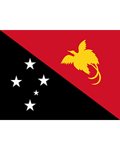 Flag: Papua New Guinea |  landscape flag | 3.375m² | 36sqft | 160x210cm | 60x80inch
