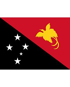 Flag: Papua New Guinea |  landscape flag | 6.7m² | 72sqft | 220x300cm | 90x120inch