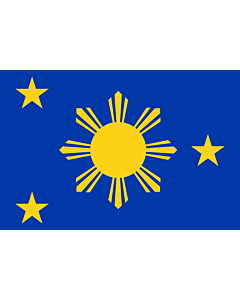 Bandera: Naval Jack of the Philippines |  bandera paisaje | 1.35m² | 90x150cm
