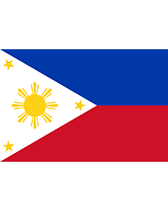 Flag: Philippines |  landscape flag | 0.375m² | 4sqft | 50x75cm | 1.5x2.5ft
