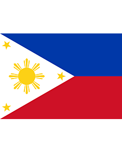 Flag: Philippines |  landscape flag | 0.7m² | 7.5sqft | 70x100cm | 2x3ft