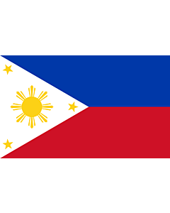 Flag: Philippines |  landscape flag | 1.35m² | 14.5sqft | 90x150cm | 3x5ft