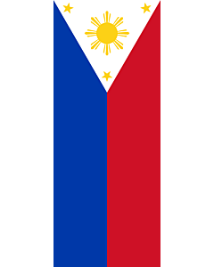 Vertical Hanging Beam Flag: Philippines |  portrait flag | 3.5m² | 38sqft | 300x120cm | 10x4ft