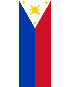 Vertical Hanging Beam Flag: Philippines |  portrait flag | 6m² | 64sqft | 400x150cm | 13x5ft