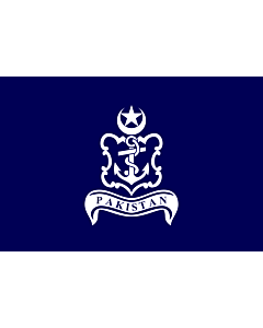 Flag: Naval Jack of Pakistan |  landscape flag | 2.16m² | 23sqft | 120x180cm | 4x6ft