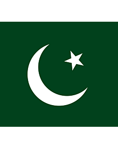 Drapeau: Pakistan Muslim League  Q | Pakistan Muslim League  Q . Created using Inkscape |  drapeau paysage | 1.35m² | 110x120cm