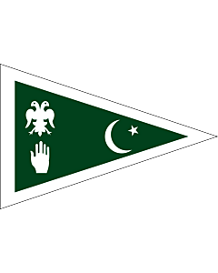 Flag: State of Dir | A simplified flag of the historical Pakistani state of Dir |  landscape flag | 2.16m² | 23sqft | 120x180cm | 4x6ft