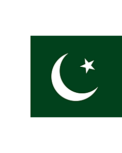 Flag: Pakistan |  landscape flag | 0.96m² | 10sqft | 80x120cm | 2.5x4ft