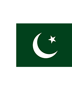 Flag: Pakistan |  landscape flag | 6.7m² | 72sqft | 200x335cm | 6x11ft