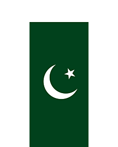 Flag: Pakistan |  portrait flag | 3.5m² | 38sqft | 300x120cm | 10x4ft