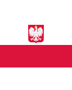 Flag:  Poland |  landscape flag | 1.35m² | 14.5sqft | 90x150cm | 3x5ft