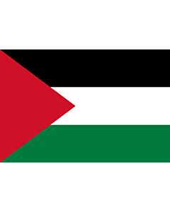 Drapeau: Palestine |  drapeau paysage | 0.375m² | 50x75cm