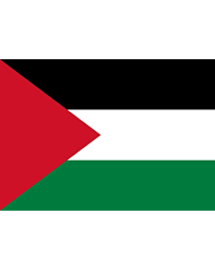 Flag: Palestine |  landscape flag | 0.7m² | 7.5sqft | 70x100cm | 2x3ft